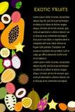 Tidskriftmall för tropiska frukter Royaltyfria Bilder
