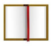 Tidskriftsbok med den röda avdelaren royaltyfri illustrationer