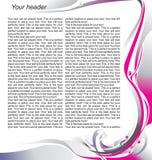 tidskriftsidamall Royaltyfri Bild