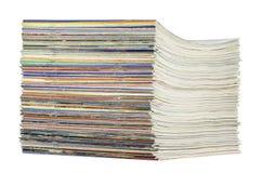 tidskriftstapel Arkivbilder