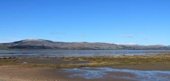 Tidvattens- bred flodmynning England Cumbria Fotografering för Bildbyråer