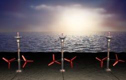tidvattens- energiillustration Arkivfoton