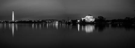 Tidvattens- handfat på natten Royaltyfria Foton