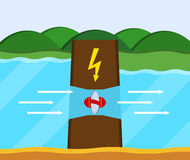 Tidvattens- kraftverk Arkivfoton