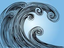 tidvattens- tsunamiwave Arkivbild