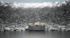 Tidvattens- våg av skrivbordsarbete Royaltyfri Bild