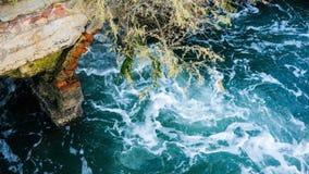 Tidvattenvatten maler fördärvar Fotografering för Bildbyråer