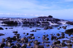 Tidvattenvattenfall Arkivfoton