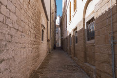 Tidy alleyway in an old town Stock Photo