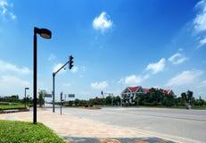 tidy clean gator för stad Arkivfoto