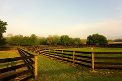 A tidy horse farm in ocala Royalty Free Stock Images