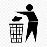 Tidy man icon, do not litter symbol Royalty Free Stock Images