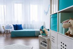 Tidy small room designed for boy Royalty Free Stock Image