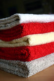 Tidy Towels. Colorful and Dry Towels prepared for using - closeup Stock Images