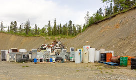 A tidy waste disposal site in northern canada Royalty Free Stock Images