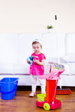 Tidying the room Royalty Free Stock Photo
