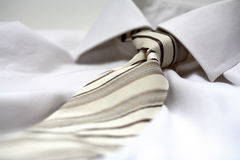 Tie. A modern tie and a white shirt Stock Photography