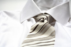 Tie. A modern tie and a white shirt Stock Photos