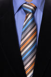 Tie. Detail of a Business man Suit with colored tie Stock Photography