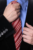 Tie. Detail of a Business man Suit with red tie Royalty Free Stock Photos