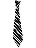 Tie. Black lined tie on the white background Royalty Free Stock Photos