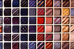 Tie. Many the various curtailed man's ties Royalty Free Stock Photo
