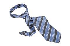 Tie. Blue tie white background isolate Stock Photo
