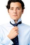 Tie adjustment Royalty Free Stock Image
