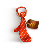 Tie and badge icon Stock Photo