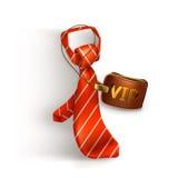 Tie and badge icon Stock Photo