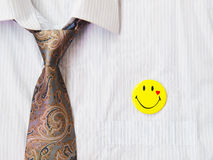 Tie and badges Royalty Free Stock Image