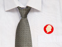 Tie and badges Stock Image