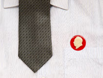 Tie and badges Royalty Free Stock Images