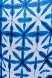 Tie batik dyeing tie batik indigo color or mauhom color on fabric. Background stock photography