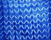 Tie batik dyeing natural colors Mauhom or indigo color on fabric background. Indigenous and wisdom knowledge of thai people at Sakom nakorn and Phrae, Thailand stock photo