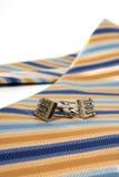 Tie, belt and cufflinks Stock Photography