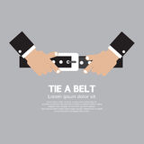Tie a Belt Royalty Free Stock Photos