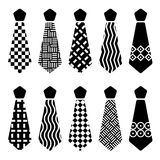 Tie black silhouettes Royalty Free Stock Photography