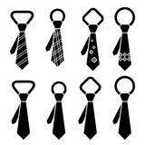 Tie black symbols Stock Photos