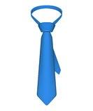 Tie. Blue tie isolated on white Royalty Free Stock Images