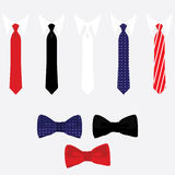 Tie and bow tie set Stock Photo