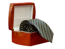 Tie in a box isolated (with clipping path) Royalty Free Stock Photo