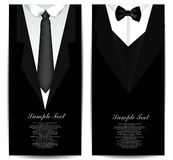 Tie Business cards Stock Images