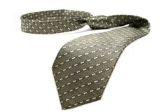 Tie of the businessman of grey color with a simple pattern Royalty Free Stock Image