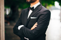 Free Tie Butterfly Close-up. Wedding Groom Suit Stock Photography - 90976302
