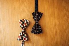 Tie Butterfly on a wooden background. Wedding in Montenegro royalty free stock image