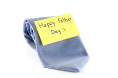 Tie with card tag write happy father day word Stock Image