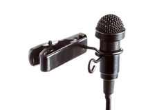 Tie-Clip Microphone Royalty Free Stock Photo