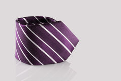 Tie close up. Checkered tie close up on white background Royalty Free Stock Images