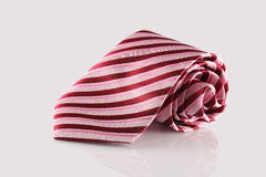 Tie close up. Checkered tie close up on white background Royalty Free Stock Photos